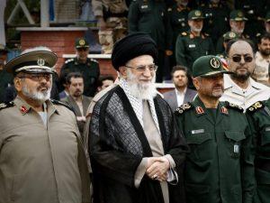 Ayatollah Khamenei and Hassan Firouzabadi