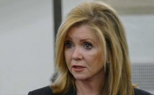 Rep. Marsha Blackburn, R-TN, speaks at Georgetown University April 19, the night before Planned Parenthood CEO Cecile Richards' talk on campus