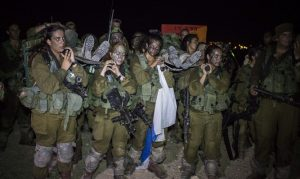 Male and female soldiers in Caracal battalion
