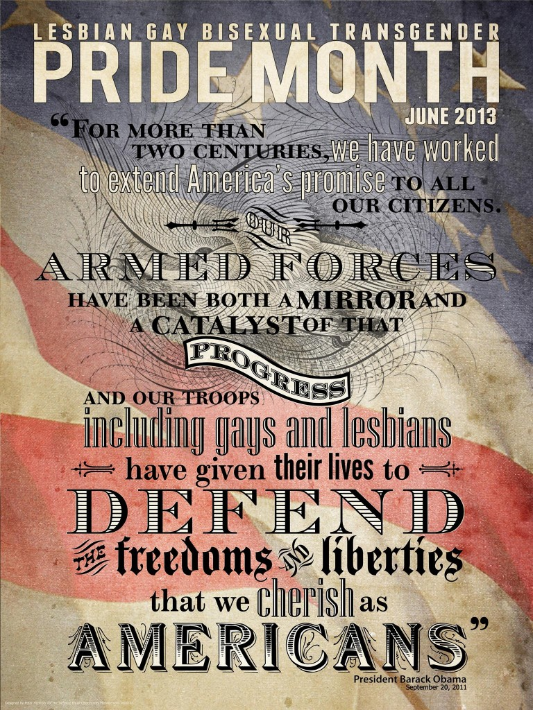 The DoD Special Homosexual Pride Month Poster.