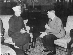 Hitler with the Mufti of Jerusalem Both conspired for the holocaust