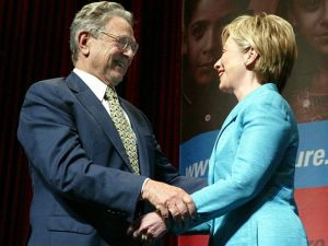 George Soros and Hillary Clinton