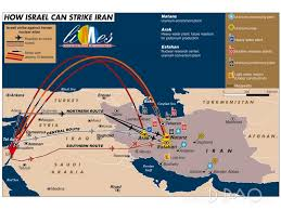The routes to attack Iran