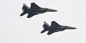 Japan Air Self-Defense Force's F-15J Eagle aircraft.
