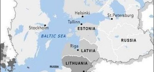Map of Baltic States. The Goal of Imperial Russia