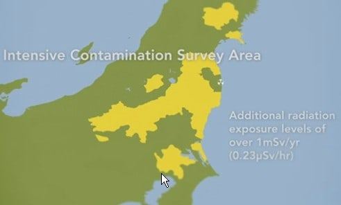 Area of Japan Impacted by Radiation From Fukushima