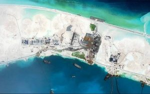 Mischief Reef, a disputed island in the South China Sea