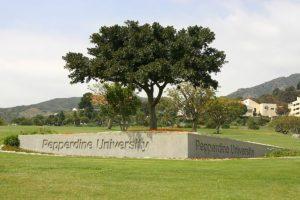 Pepperdine University Malibu Canyon Entrance Gate