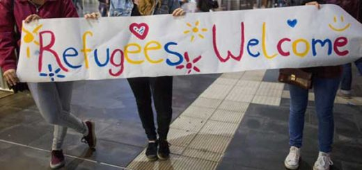 Refugees Welcome protesters in Germany