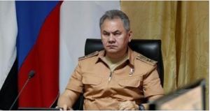 Russian Defense Minister Sergei Shoigu visits Hmeymim air base in Syria, June 18, 2016