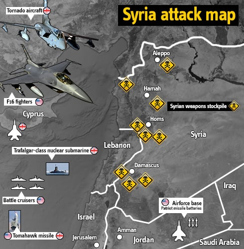 Map of Syrian Targets