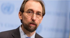 U.N. human rights commissioner Zeid Ra'ad Al Hussein