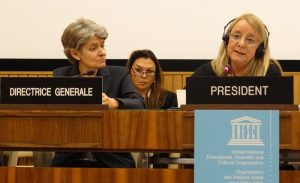 UNESCO Director General Irina Bokova (left) received death threats after announcing her opposition to a jihadist resolution