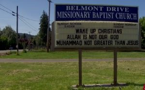 Belmont Drive Missionary Baptist Church sign