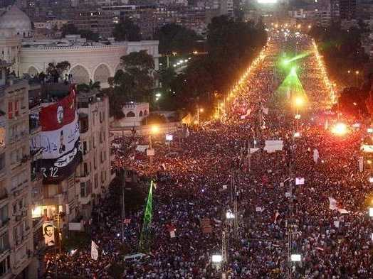 Part of Massive Protest in Egypt