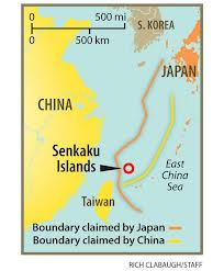 Map of China-Japan disputed islands