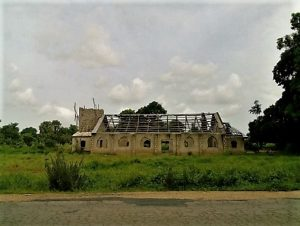 The vandalised Evangelical Reformed Church of Christ, Lafia, Nasarawa State