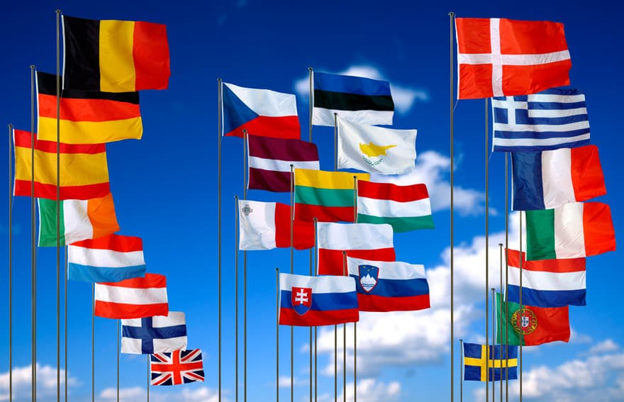 European Union Nations' Flags