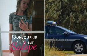 """Snapshots of France's new sharia police. Left: In Toulon, 18-year-old Maude Vallet was threatened and spat on by a group of Muslim girls on a bus, because she was wearing shorts. She posted a photo of herself on Facebook with the caption, """"Hello, I'm a slut."""" Right: In a resort in Garde-Colombe, a Moroccan man stabbed a woman and her three daughters on July 19, apparently because they were scantily dressed"""