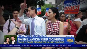 Huma Abedin with husband Anthony Weiner