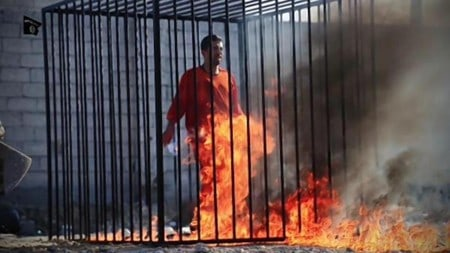 ISIS burning a victum