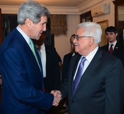 Kerry and Abbas meeting while NK threatens US with nuclear war