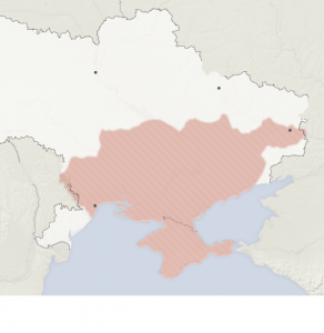 The area of the Ukraine that Putin wants.