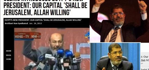 Morsi at Ralley calling for Jerusalem as Capital of Islamic Caliphate