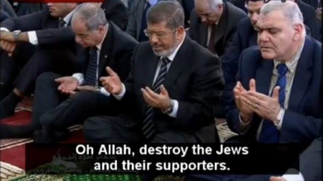 Muslim Brotherhood Morsi, Egypt's President prays for allah to destroy the Jews and supported by Obama!