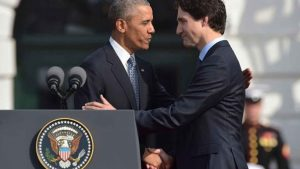 American President Barack Obama and Canadian Prime Minister Justin Trudeau