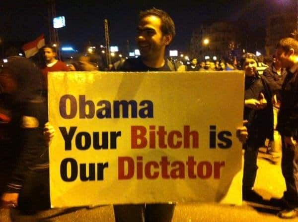 The Egyptians See Obama For What He Is.