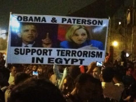 Patterson is the US ambassador to Egypt.