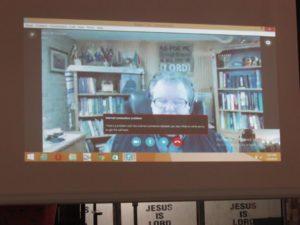 Chaplin John preaching in Nigeria via Skype