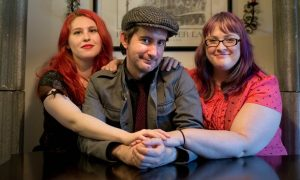 Tamela Clover, Jeff Lords and Gaile Parker are a polyamorous threesome living in Portland. They are in a 'V' dynamic, with Jeffry as the pivot person