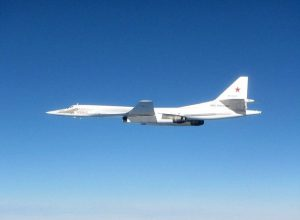 This image of one of the Russian bombers was tweeted by the UK Ministry of Defence today