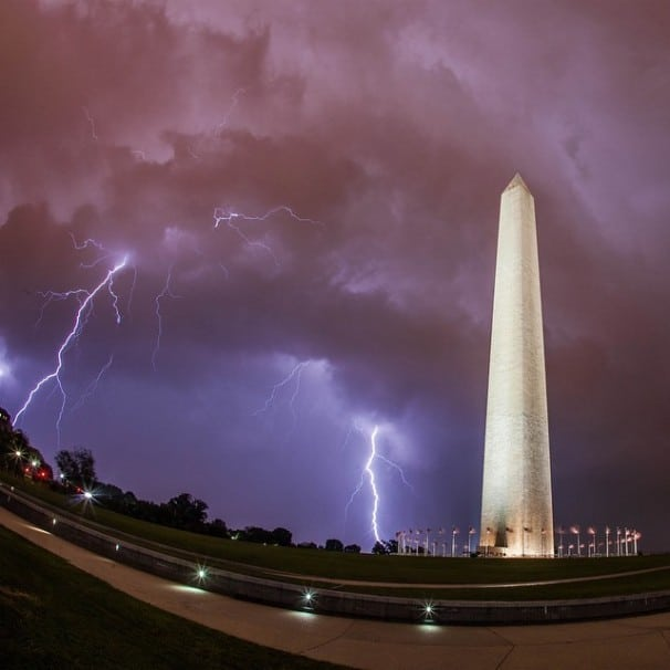Massive storm hit DC after the homosexual court case