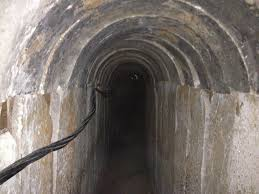 Hamas tunnel into Israel.